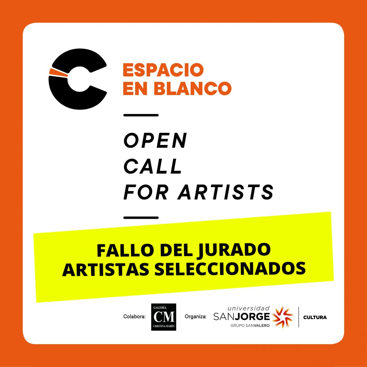 Fallo del jurado Open call for artists Espacio en blanco